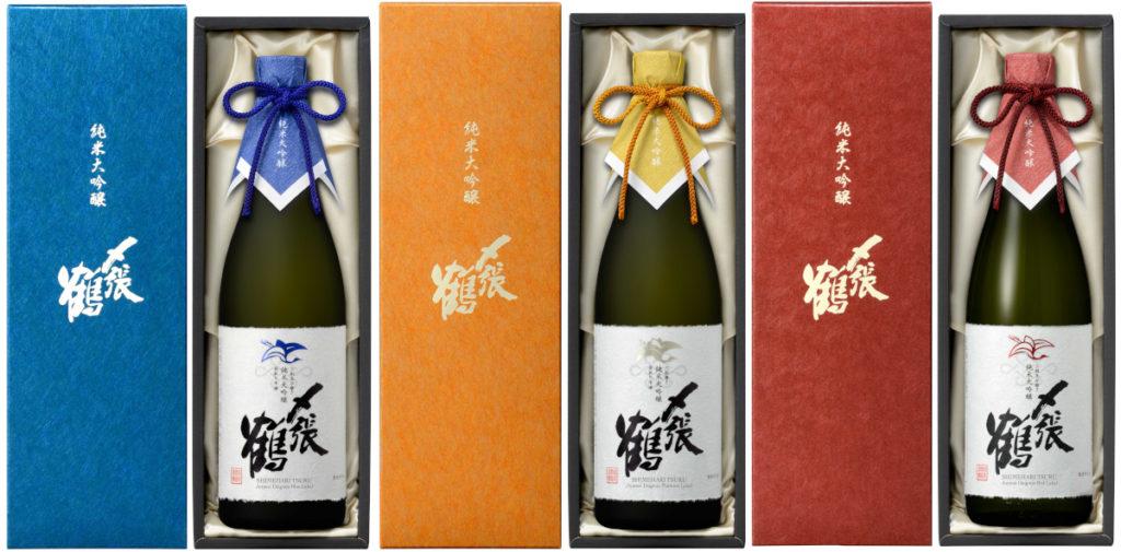 宮尾酒造の新商品「〆張鶴 純米大吟醸」3種